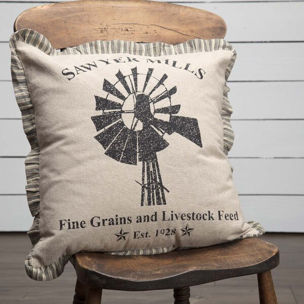 Surikova Windmill 100% Cotton Throw Pillow by August Grove
